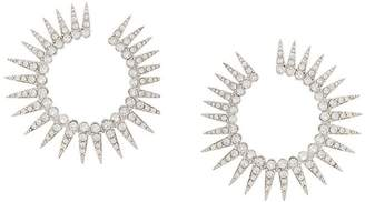 Oscar de la Renta spike hoop earrings
