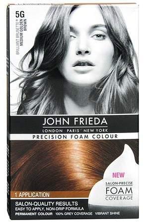 John Frieda Permanent Hair Colour 5G Brilliant Brunette Medium Golden Brown