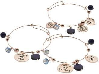 """Soul Sisters"" Bangle Bracelet Set"