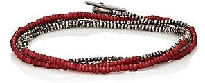 M. Cohen Men's Horizon Wrap Bracelet-Red