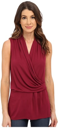 NYDJ Fit Solution Sleeveless Drape Cowl Tee $88 thestylecure.com