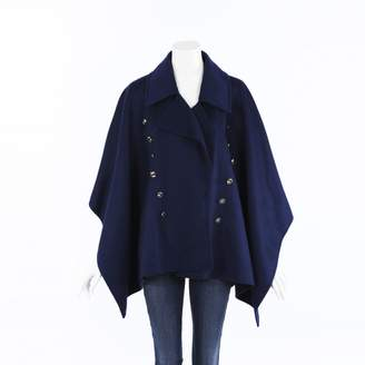 Burberry Blue Wool Trench coats