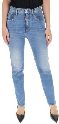 DSQUARED2 Distressed Tight Cropped Jeans