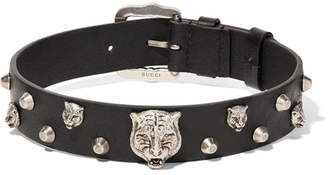 Gucci Leather And Silver-tone Choker - Black
