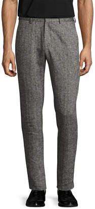 Shades of Grey by Micah Cohen Linen Woven Suit Trouser