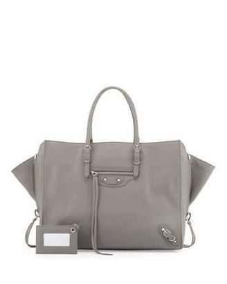 Balenciaga Papier B4 AJ Zip-Around Tote Bag, Black $1,765 thestylecure.com