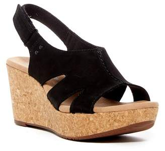 Clarks Annadel Bari Leather Platform Wedge Sandal