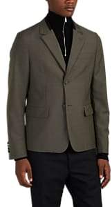 Prada MEN'S WOOL-MOHAIR PLAIN-WEAVE TWO-BUTTON SPORTCOAT - OLIVE SIZE 52 EU