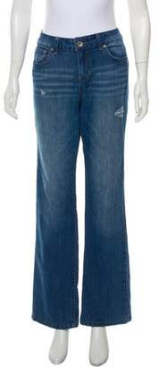 DKNY High-Rise Wide-Leg Jeans