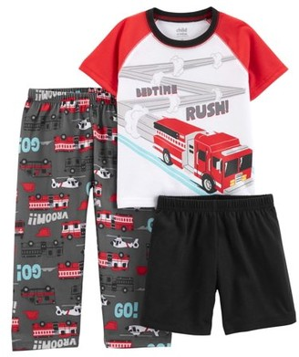 Carter's Child of Mine by Short sleeve t-shirt, shorts, and pants, 3 piece pajama set (toddler boys)