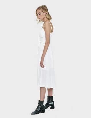 Pippa Farrow Tie Midi Dress in White