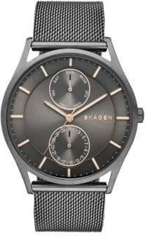 Skagen Holst Stainless Steel Mesh Multifunction Watch