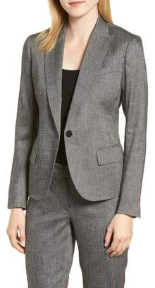 Anne Klein Linen Blend One-Button Suit Jacket