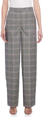 Cédric Charlier Plaid Wide Leg Pants