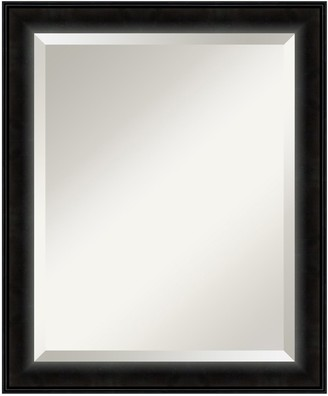 Amanti Art Madison Black Modern Wood Wall Mirror