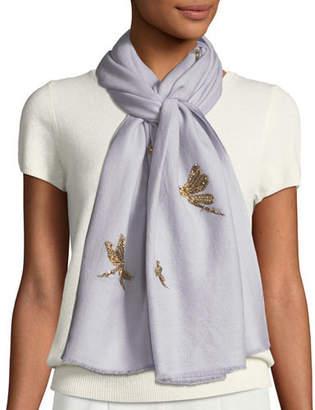 Janavi K Jeweled Dragonfly Scarf