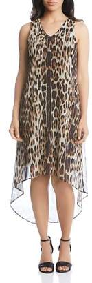 Karen Kane Leopard-Print High/Low Midi Dress