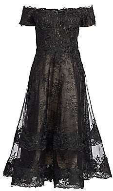 Teri Jon by Rickie Freeman Women's Off-The-Shoulder Lace Cocktail Dress