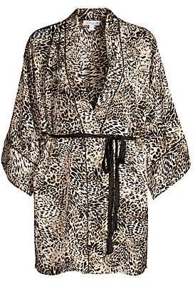 In Bloom Women's Wildest Dreams Satin Animal Print Robe