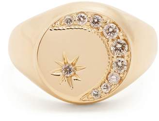 Jacquie Aiche Diamond & yellow-gold signet ring
