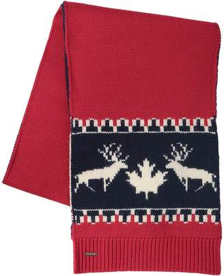 DSQUARED2 Deer Wool & Alpaca Knit Scarf