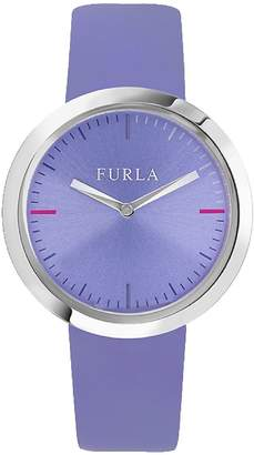 Furla Women's Valentina Lilac Dial Calfskin Leather Watch