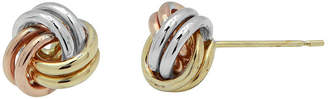 JCPenney FINE JEWELRY 10K Tri-Tone Gold Love Knot Earrings