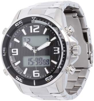 Steel By Design Stainless Steel Bold Digital Panther Link WatchMen's