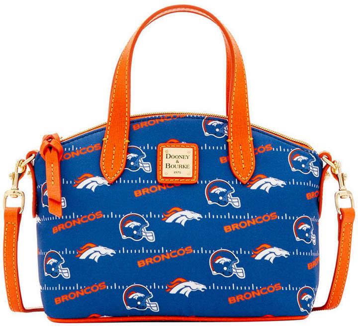 Dooney & Bourke Denver Broncos Nylon Mini Crossbody Satchel - NAVY - STYLE