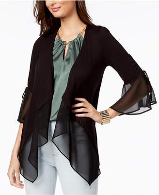 Thalia Sodi Mixed-Media Cardigan, Created for Macy's