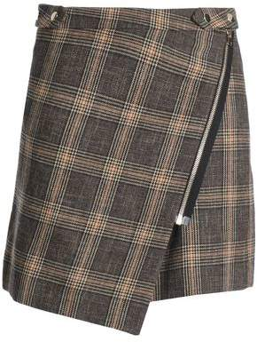 Vanessa Bruno Checked Wool And Cotton-Blend Mini Skirt