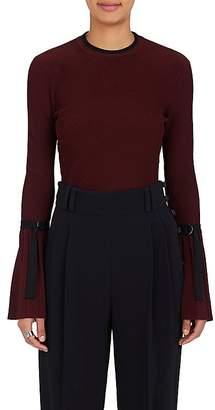 3.1 Phillip Lim Women's Flared-Sleeve Rib-Knit Sweater