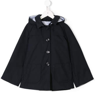 Herno Kids hooded cape jacket