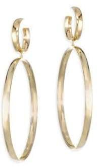 Lana Curve Large Double Drop Earrings