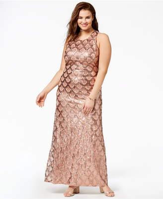 Morgan & Company Trendy Plus Size Sequined Gown