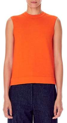 Carolina Herrera Cashmere-Silk Sleeveless High-Neck Knit Shell