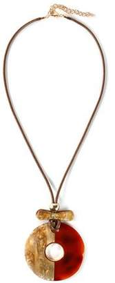 Kenneth Jay Lane Gold-Tone Cord And Resin Necklace