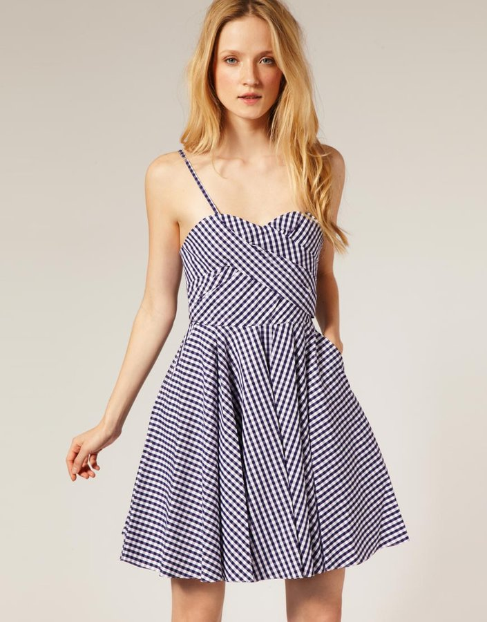 Paul & Joe Sister Gingham Bandeau Dress