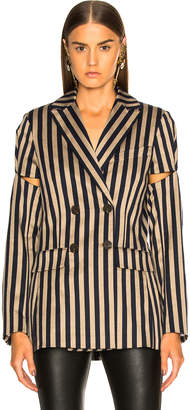 Jonathan Simkhai Stripe Double Breasted Jacket