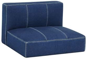 Pottery Barn Teen Cushy Lounge Armless Chair, Enzyme Washed Denim, QS UPS