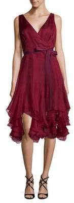 NUE by Shani Zippered Silk Organza Dress