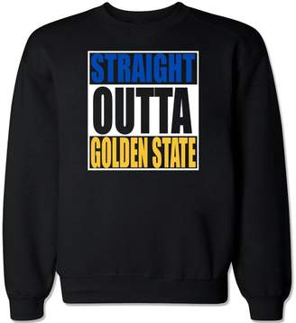 FTD Apparel Men's Straight Outta Golden State Crew Neck Sweater