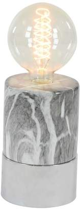 Brimfield & May Contemporary Cylindrical Marbled Ceramic Accent Lamp