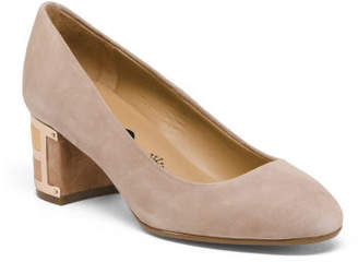 Suede Dress Shoes With Statement Heel