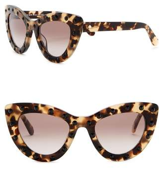 Kate Spade Luann 50mm Studded Cat Eye Sunglasses