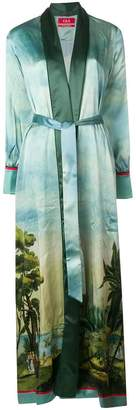 F.R.S For Restless Sleepers printed long belted kimono