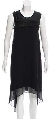 Rue Du Mail Silk Asymmetrical Dress w/ Tags