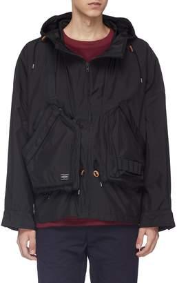 Kolor x PORTER detachable pouch hooded jacket