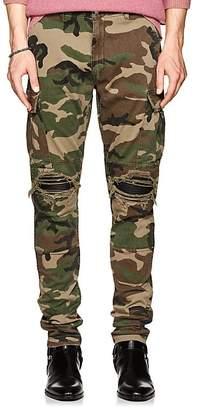 Amiri Men's MX1 Leather-Inset Cotton Cargo Pants