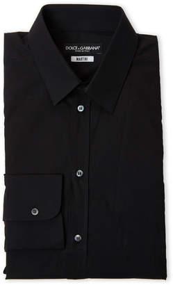 Dolce & Gabbana Black Martini Fit Dress Shirt